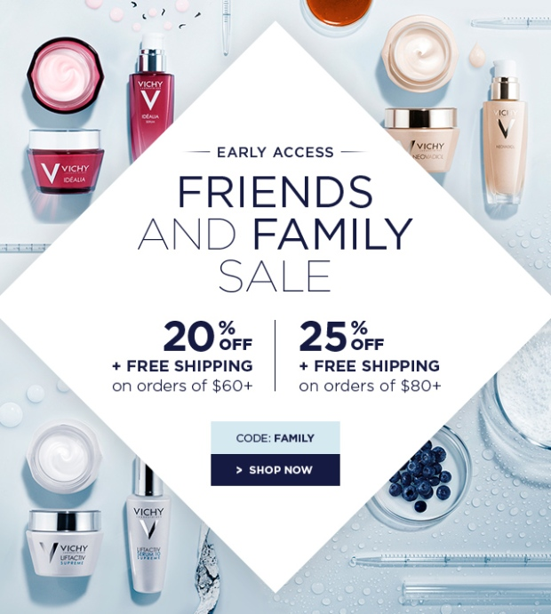 Vichy Canada Friends and Family Event Spring Summer Sale 2018 - Glossense