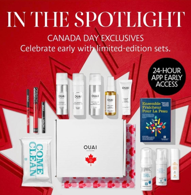 Sephora Canada Canada Day Exclusives Canadian Limited Edition Sets Early Access App-First Promo Kat Von D Ouai Consonant - Glossense