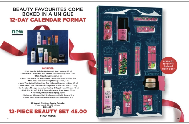 Avon Canada 12 Days Of Christmas Beauty 2018 Canadian Holiday