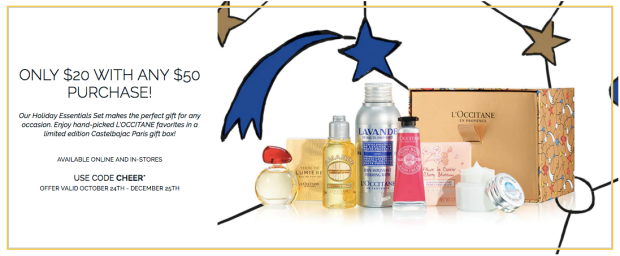 LOccitane En Provence Canada Holiday Essentials Set Gift Discounted Offer Canadian Deal 2018