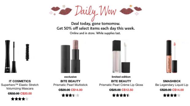 Sephora Canada Canadian Daily Wow Deal Cyber Week November 23 2018 Smashbox Bite IT Cosmtics Liquid Lip Lipstick Lippie Mascara - Glossense