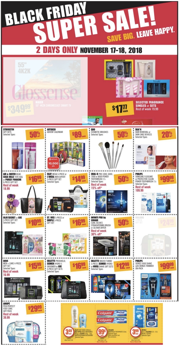Shoppers Drug Mart Canada SDM Beauty Boutique 2018 Black Friday 2-Day Super Sale & Weekly Beauty Flyer Deals 2019 Savings - Glossense