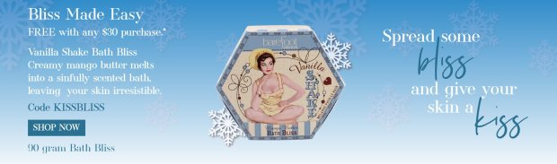 Barefoot Venus Canada Canadian Promo Code Coupon Codes GWP Free Bliss Made Easy Vanilla Shake Bath Bliss - Glossense