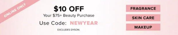 Hudson's Bay Canada The Bay HBC Canadian Coupon Code Promo Offer New Year 2019 Save on Beauty Purchase Makeup Skin Care Fragrances - Glossense
