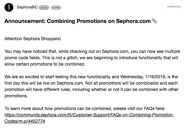 Sephora Canada Canadian Promo Codes Beauty Offers Coupon Code Offer Combine Multiple Redemptions Codes Free Stuff Points Rouge Rewards 2019 Combining Promotions - Glossense