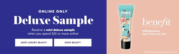 Shoppers Drug Mart SDM Beauty Boutique Canada 2019 Canadian Freebies Deals GWP Free Benefit Cosmetics Porefessional Primer Mini Deluxe Sample - Glossense