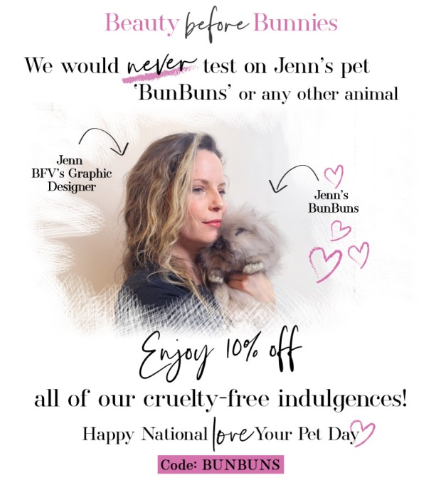 Barefoot Venus Canada Canadian Deals Sale Promo Code Coupon Offer Save 10 on National Love Your Pet Day - Glossense