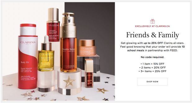 Clarins Canada Friends and Family Event Canadian 2019 Sale Deals Promotion Promo Discount - Glossense