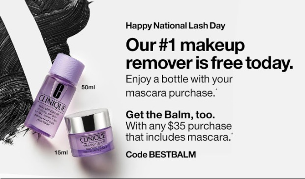 Clinique Canada 2019 National Lash Day Canadian Deals GWP Free Gifts with Purchase Promo Offer Code Free Makeup Remover Balm - Glossense