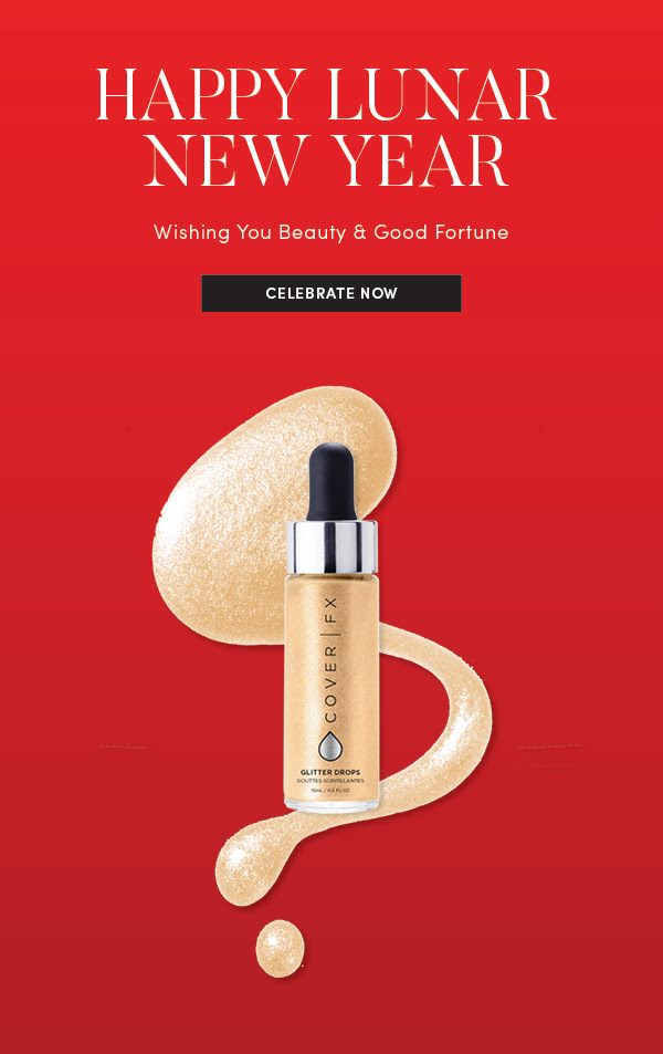 Cover FX Canada 2019 Canadian Chinese New Year Lunar New Year Free CoverFX Glitter Drops Nova Beauty Offer Free Gift GWP - Glossense