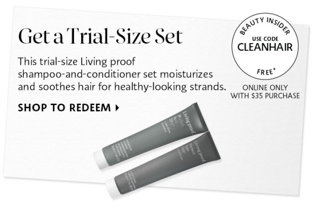 Sephora Canada Canadian Promo Code Coupon Codes Offer GWP Free Living Proof Clean Hair Shampoo Conditioner CLEANHAIR freebie gift set - Glossense