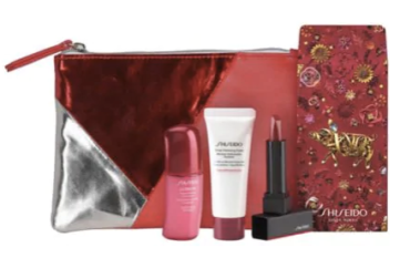 Shiseido Canada 2019 Canadian Chinese New Year Lunar New Year Bag Pouch Gift Set Free GWP Gift with Purchase Hudson's Bay HBC The Bay Promotions - Glossense