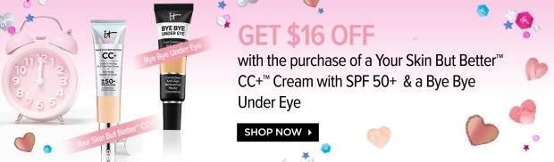 IT Cosmetics Canada Exclusive International Women's Day Canadian Deal March 8 2019 Bundle Deal Save 16 Discount CC Cream Bye Bye Under Eye - Glossense