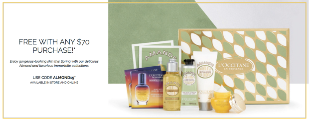 L'Occitane Canada Promo Code Free Canadian Gift with Purchase Free 7-pc Silky-Soft Skin Collection 2019 Canadian GWP Bonus - Glossense