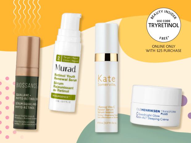 Sephora Canada Canadian Promo Code Beauty Offers Coupon Code GWP Free Wrinkle Fighting Retinol Skincare Skin Care Sample Samples - Glossense