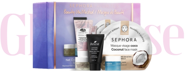 Sephora Canada Favorites Set Kit Canadian Favourites Favorite Favourite Beauty Unmasked Face Mask Set Facials Facial Skin Care Skincare Collection - Glossense
