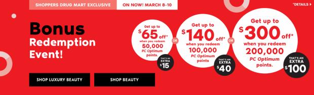 Shoppers Drug Mart Beauty Boutique SDM Canada Super Spend Your Canadian PC Optimum Points Redemption Event March 8 10 2019 - Glossense