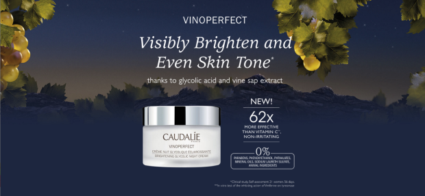 Topbox Canada Canadian Freebies Lancome Samples Free Caudalie Vinoperfect Brightening Glycolic Night Cream Deluxe Mini Trial-size Skincare Skin Care Sample - Glossense