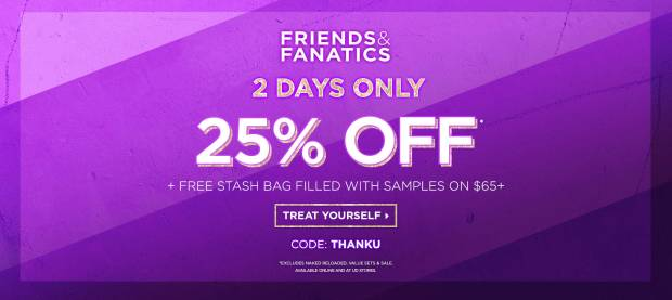 Urban Decay Canada UD Beauty Cosmetics Canadian Friends and Fanatics Event Friends and Family Sale Free Gift with Purchase GWP Canadian Deals Free Stash Bag Filled with Samples UD Basic Makeup Bag Promo Coupon Code Offer - Glossense
